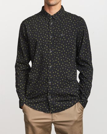 1 Prelude Floral  - Long Sleeve Shirt Black Q1SHRBRVF9 RVCA