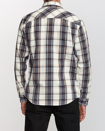 3 That'll Work Flannel  - Long Sleeve Shirt Silver Q1SHRERVF9 RVCA