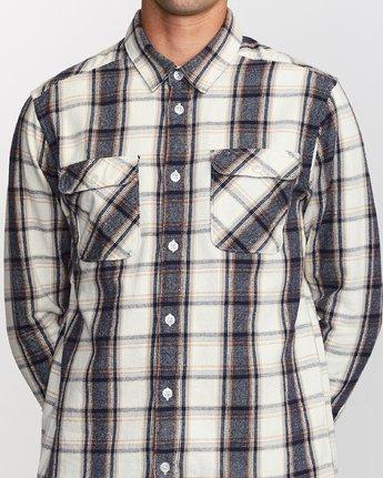 4 That'll Work Flannel  - Long Sleeve Shirt Silver Q1SHRERVF9 RVCA