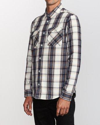 2 That'll Work Flannel  - Long Sleeve Shirt Silver Q1SHRERVF9 RVCA