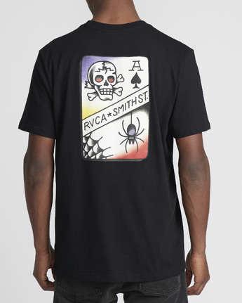 2 Smith Street  - Short Sleeve T-Shirt Black Q1SSRKRVF9 RVCA