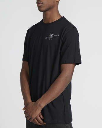 3 Smith Street  - Short Sleeve T-Shirt Black Q1SSRKRVF9 RVCA