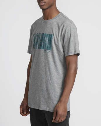 1 Logo Pack  - Short Sleeve T-Shirt Grey Q1SSRLRVF9 RVCA