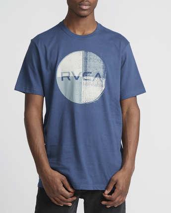 1 Logo Pack  - Short Sleeve T-Shirt Blue Q1SSRLRVF9 RVCA