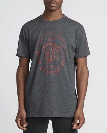 0 Siam  - Short Sleeve T-Shirt Grey Q1SSRTRVF9 RVCA