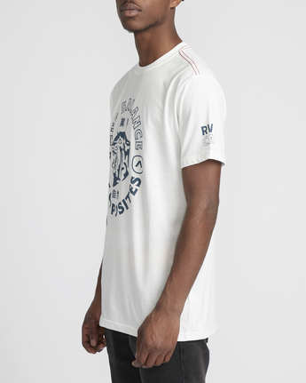 3 Siam  - Short Sleeve T-Shirt White Q1SSRTRVF9 RVCA