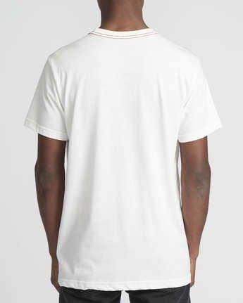 4 Snarl  - Short Sleeve T-Shirt for Men White Q1SSRURVF9 RVCA