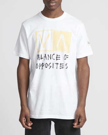 2 RVCA Blocker  - Short Sleeve T-Shirt White Q1SSSARVF9 RVCA