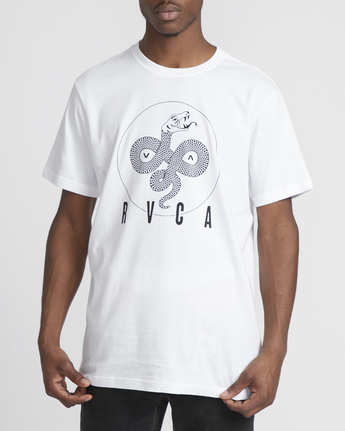 4 Serpent Curved  - Short Sleeve T-Shirt White Q1SSSBRVF9 RVCA