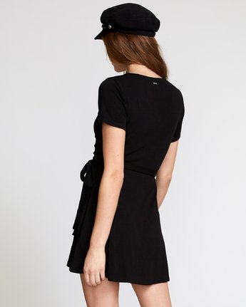 2 Slater  - Wrap Dress Black Q3DRRARVF9 RVCA