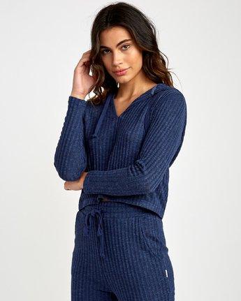 1 Mesa Pullover  - Top à capuche pour Femme Bleu Q3HORHRVF9 RVCA