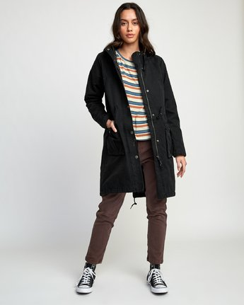 4 Managed  - Parka Coat Black Q3JKRCRVF9 RVCA