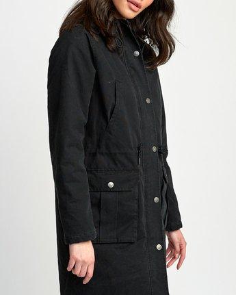 3 Managed  - Parka Coat Black Q3JKRCRVF9 RVCA