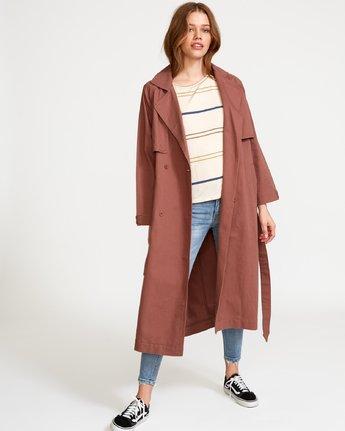 1 Larson  - Manteau Trench Coat pour Femme  Q3JKRHRVF9 RVCA