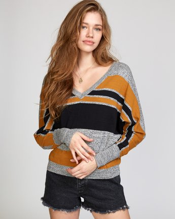 2 Carter  - Striped Sweater  Q3JPRFRVF9 RVCA