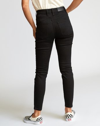 3 Solar  - High Rise Jeans Black Q3PNRARVF9 RVCA