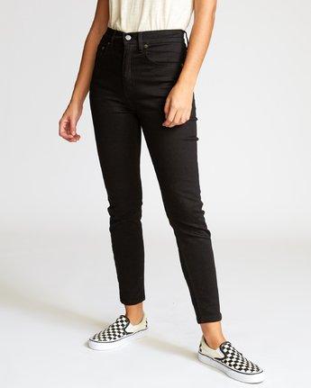 1 Solar  - High Rise Jeans Black Q3PNRARVF9 RVCA