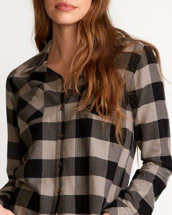 3 Jordan  - Plaid Button-Up Shirt Black Q3SHRCRVF9 RVCA