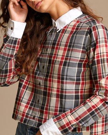 3 Rex  - Plaid Button-Up Shirt  Q3SHRDRVF9 RVCA