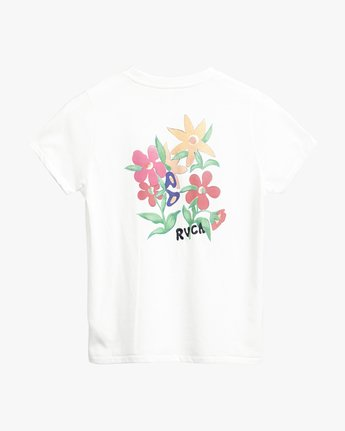 0 Melissa Grisancich Bouquet  - Short Sleeve T-Shirt White Q3SSRDRVF9 RVCA