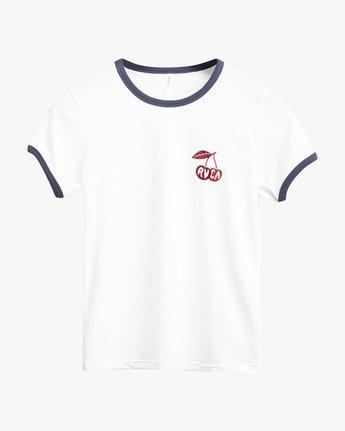 3 Cherry Ringer  - Maglietta a maniche corte da Donna White Q3SSRHRVF9 RVCA