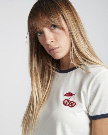2 Cherry Ringer  - Maglietta a maniche corte da Donna White Q3SSRHRVF9 RVCA
