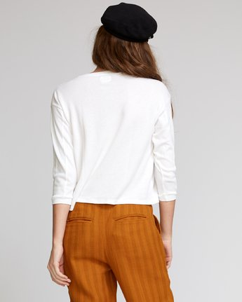 2 Lowry  - Knit Thermal Top White Q3TPRARVF9 RVCA