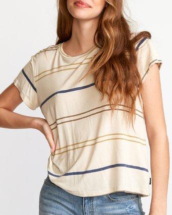 3 Recess 2  - Knit T-Shirt Beige Q3TPRBRVF9 RVCA