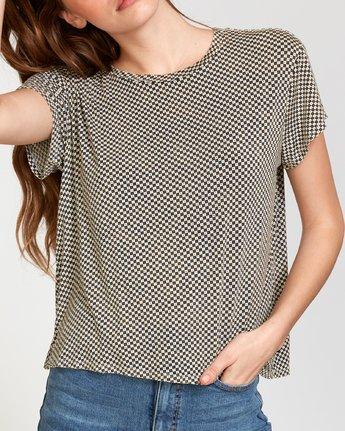 3 Suspension 3  - Knit T-Shirt Beige Q3TPRDRVF9 RVCA
