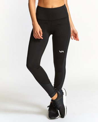 0 Andromeda  - Sports Ribbed Legging Black Q4PTWFRVF9 RVCA