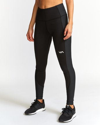 2 Andromeda  - Sports Ribbed Legging Black Q4PTWFRVF9 RVCA