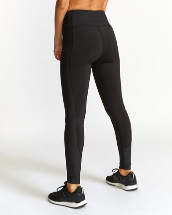 3 Andromeda  - Sports Ribbed Legging Black Q4PTWFRVF9 RVCA