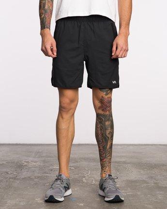 1 Yogger III  - Pantaloncini Sportivi da Uomo Black Q4WKMIRVF9 RVCA