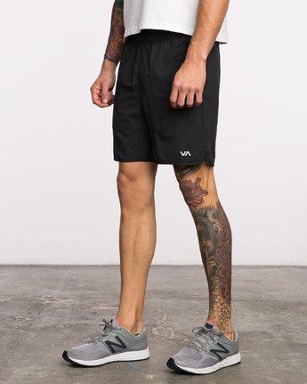 2 Yogger III  - Pantaloncini Sportivi da Uomo Black Q4WKMIRVF9 RVCA
