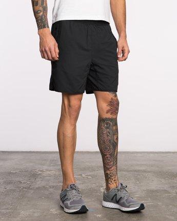 6 Yogger III  - Pantaloncini Sportivi da Uomo Black Q4WKMIRVF9 RVCA