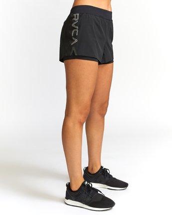 5 Eclipse  - Short de Sport pour Femme Noir Q4WKWCRVF9 RVCA