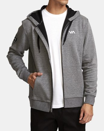 1 Sideline  - Athletic Hoodie for Men Grey Q4ZHMARVF9 RVCA