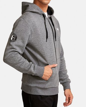 2 Sideline  - Athletic Hoodie for Men Grey Q4ZHMARVF9 RVCA