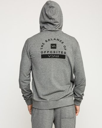 4 Cage  - Athletic Hoodie for Men Grey Q4ZHMBRVF9 RVCA
