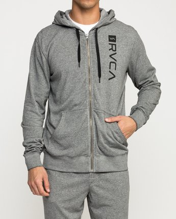 2 Cage  - Athletic Hoodie for Men Grey Q4ZHMBRVF9 RVCA