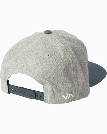2 RVCA Twill - Snapback Hat for Men Grey Q5CPRCRVF9 RVCA
