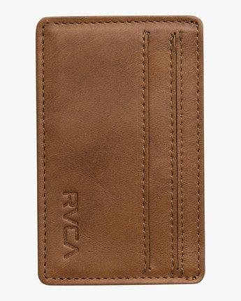 0 Clean Card - Wallet for Men Beige Q5WLRCRVF9 RVCA