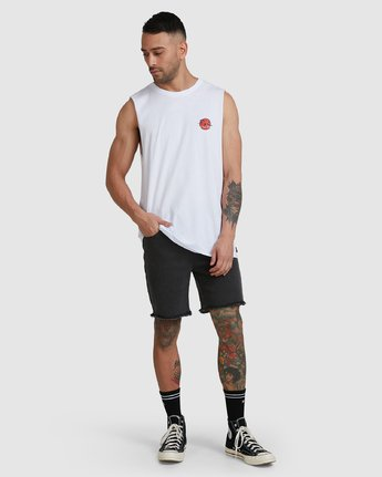 3 NEVERMIND MUSCLE White R105009 RVCA
