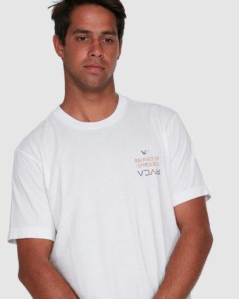 2 RVCA FAIRFAX SHORT SLEEVE TEE White R105046 RVCA