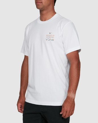 1 RVCA FAIRFAX SHORT SLEEVE TEE White R105046 RVCA