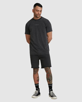 4 RVCA MINI FLIPPED SHORT SLEEVE TEE Black R105048 RVCA