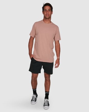 4 Rvca Washed Short Sleeve Tee Pink R105050 RVCA