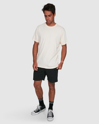 11 Rvca Washed Short Sleeve Tee White R105050 RVCA