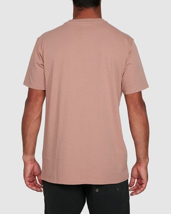 1 Rvca Washed Short Sleeve Tee Pink R105050 RVCA