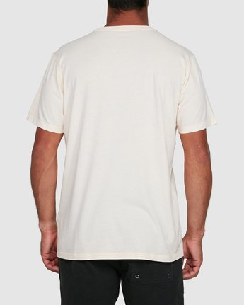 8 Rvca Washed Short Sleeve Tee White R105050 RVCA